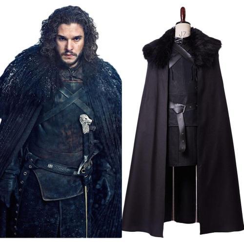 Game of Thrones GoT Jon Snow Jon Schnee Nacht Seher Outfit Cosplay Kostüm