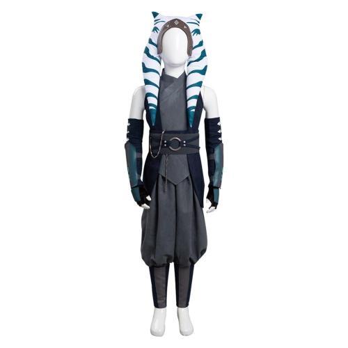 Kinder Ahsoka Tano Star Wars Cosplay Kostüme Outfits Halloween Karneval Set
