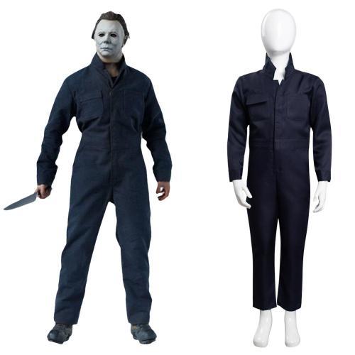 Kinder Halloween Kills 2021 Michael Myers Cosplay Kostüme Outfits Halloween Karneval Jumpsuit