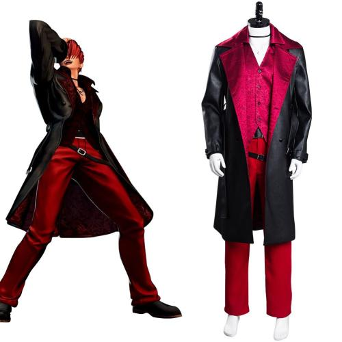 The King of Fighters XV Iori Yagami Cosplay Kostüme Outfits Halloween Karneval Set