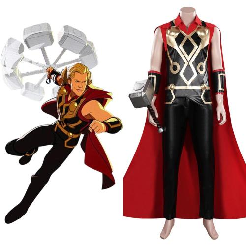 WHAT IF Thor Cosplay Kostüme Outfits Halloween Karneval Set