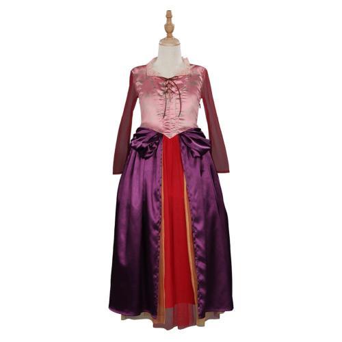 Kinder Sarah Sanderson Hocus Pocus Cosplay Kostüm Mädchen Halloween Karneval Kleid