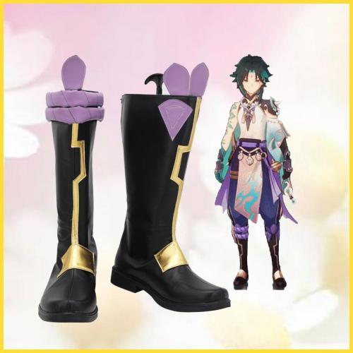 Genshin Impact Xiao Cosplay Stiefel Schuhe