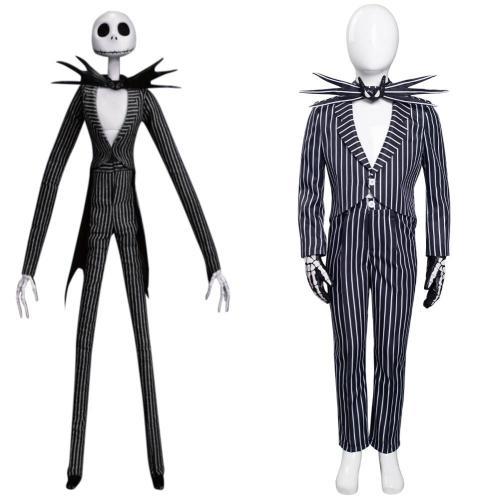 Kinder The Nightmare Before Christmas Jack Skellington Cosplay Kostüme Uniformen Halloween Karneval Anzug
