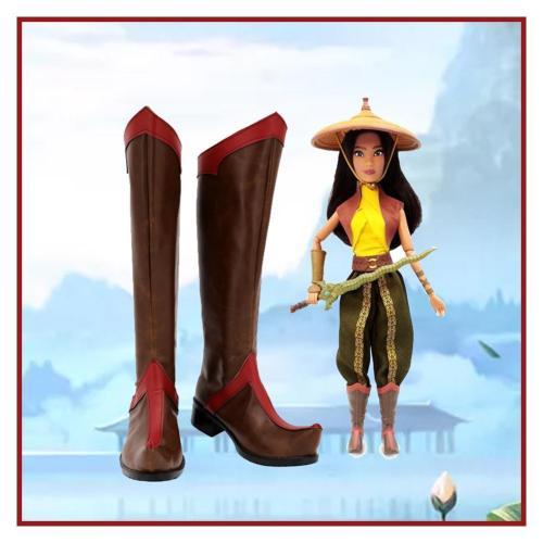 Raya und der letzte Drache Raya Stiefel Cosplay Schuhe