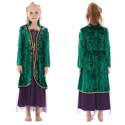 Kinder Winifred Sanderson Hocus Pocus Cosplay Kostüme Halloween Karneval Kleid