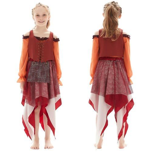 Kinder Mary Sanderson Hocus Pocus Cosplay Kostüm Halloween Karneval Outfits