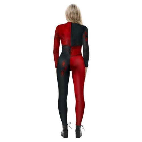 Harley Quinn Cosplay Kostüme Halloween Karneval Jumpsuit