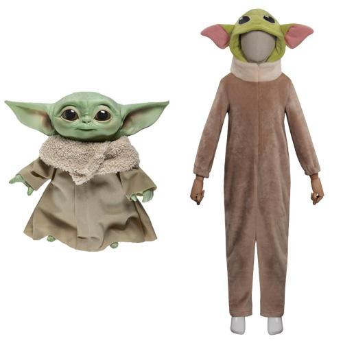 Kinder The Mandalorian Baby Yoda Cosplay Kostüme Outfits Halloween Karneval Jumpsuit