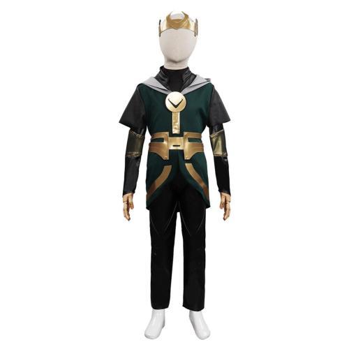 Kinder Loki Kinder Loki Cosplay Kostüme Outfits Halloween Karneval Set