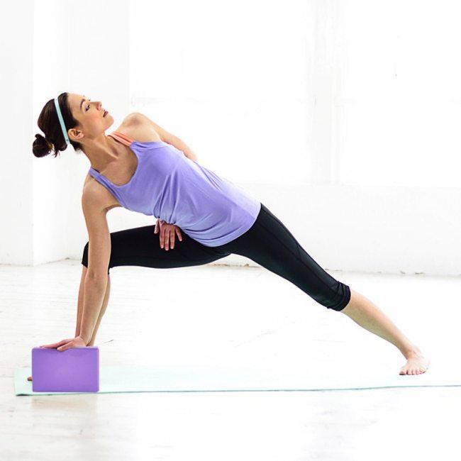 Exercice Fitness Sport Pilates Props EVA Foam Lightweight Brick Stretching D/ébutant Aid Tool LQKYWNA Yoga Block