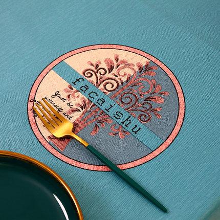 防水防油防燙免洗-發財樹北歐風格桌布