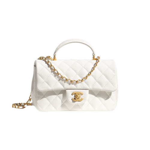 MINI FLAP BAG WITH TOP HANDLE