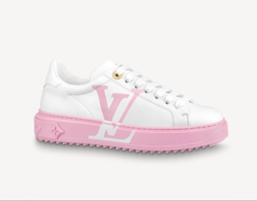 Louis Vuitton | Monogram Round Toe Rubber Sole Lace-up Casual Style Leather