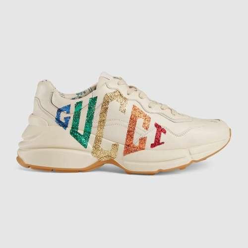 Women's Rhyton glitter Gucci sneaker