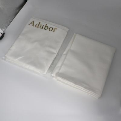 Adubor 100% Cotton Hypoallergenic Pillow Protector Case - Queen, White