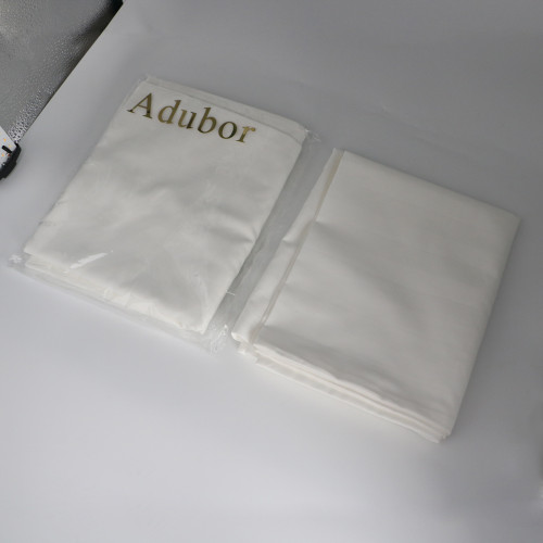 Adubor 100% Cotton Hypoallergenic Pillow Protector Case - Queen, White