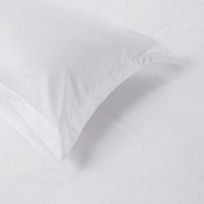 OCNESS 100% Cotton Hypoallergenic Pillow Protector Case - Queen, White