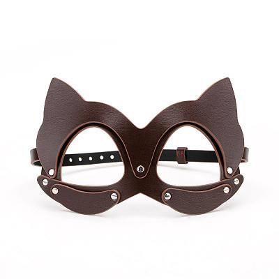 猫マスク5点本革調教セット ダークブラウン
