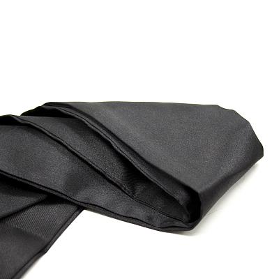 アイマスク 帯状  ソフトシルキーサテン ブラック