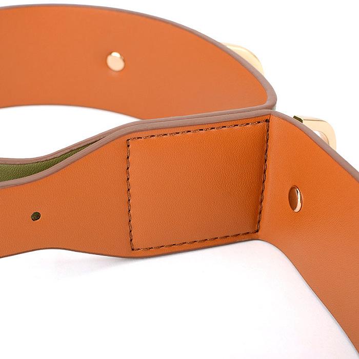 オリーブグリーン 革製SM連結手枷