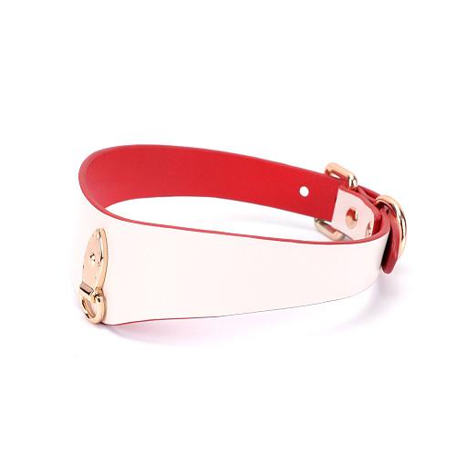 シンプル 首輪 ソフトシープスキン ホワイト【取寄せ】