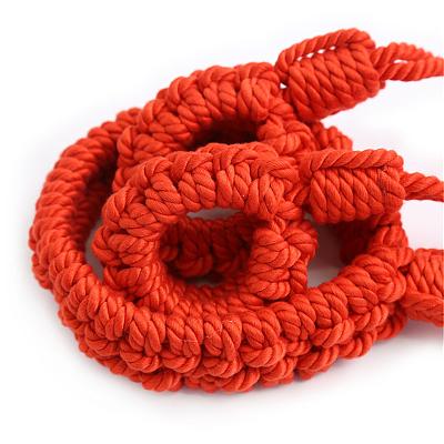 綿縄拘束シリーズ 首輪付き手枷 赤