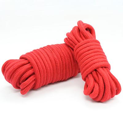 緊縛ロープ・縄 綿製 10米 赤
