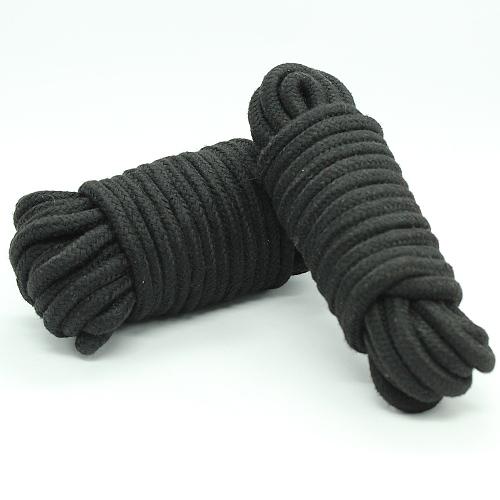 緊縛ロープ・縄 綿製 10米 黒