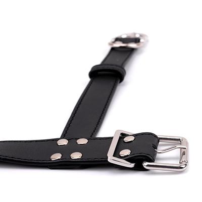 背中拘束 首輪付きの手枷 ブラック