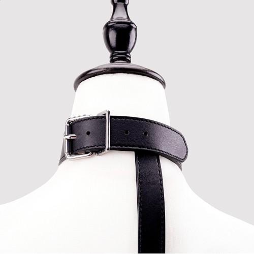 背中拘束 首輪付き背中手枷 ブラック