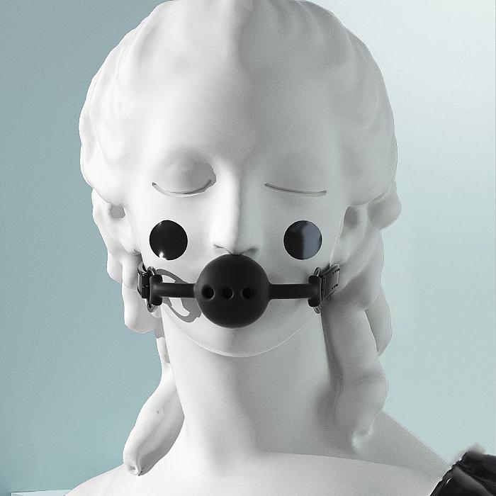 シリコンボールギャグ(口枷) ブラック