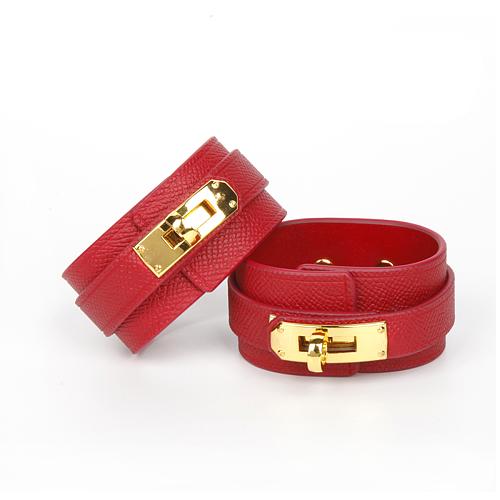 Cardinal Red カージナルレッド 本革手枷