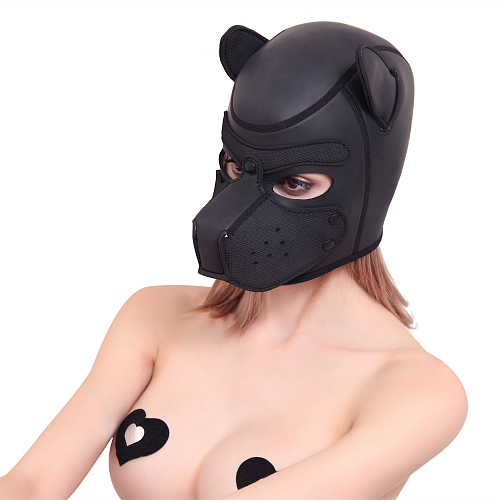 SMアニマル ドッグマスク ブラック