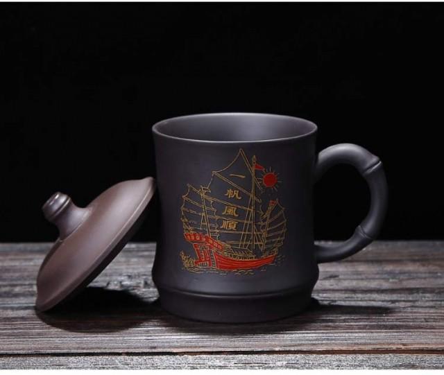 Handmade Purple Clay Tea Cup Office Water Cup