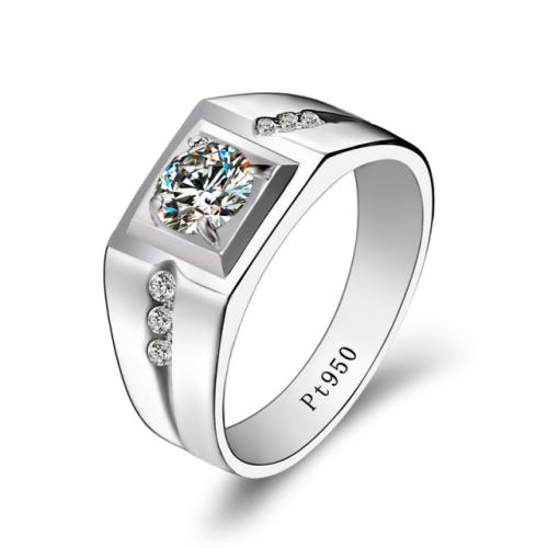 Sterling Silver Diamond Men's Ring