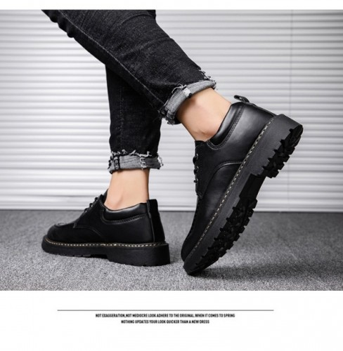 Cowhide casual men's leather shoes