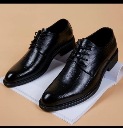 Genuine leather business men's shoes