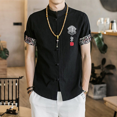 Chinese style mulberry silk breathable short sleeves
