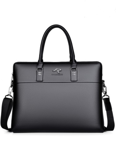 Men's business leather handbag