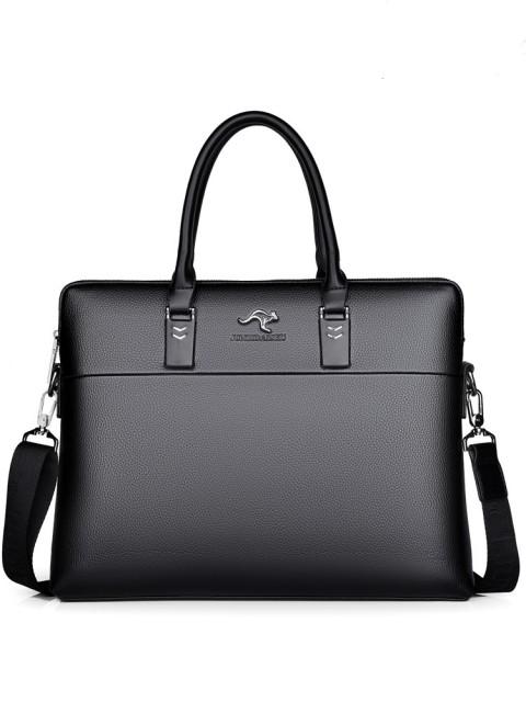 Men's business leather handbag