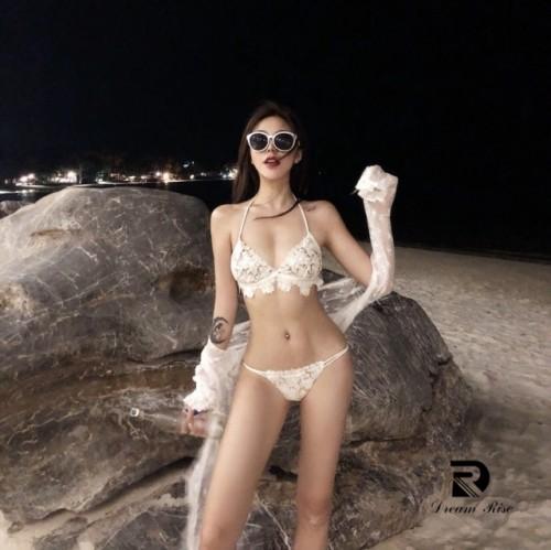 Lace hollow bikini
