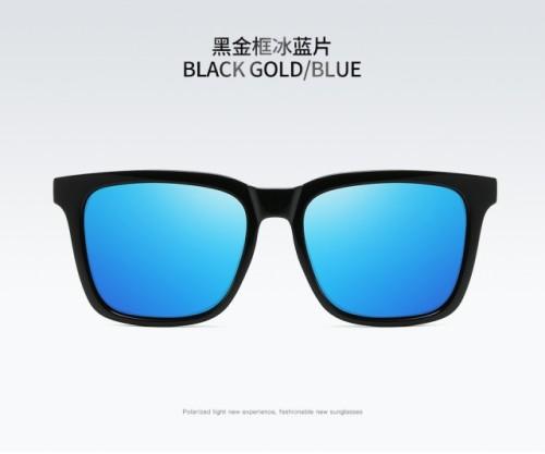 Ice blue trendy sunglasses