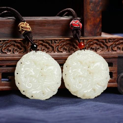 Natural A Goods Jade Dragon Pendant