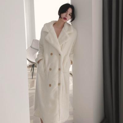 Plush simple nightgown bathrobe