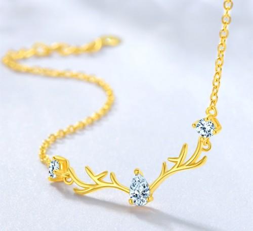 Yilu has you 999 pure gold diamond bracelet