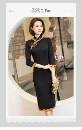 French high-end temperament ladies cheongsam