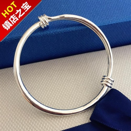Retro smooth round temperament bracelet
