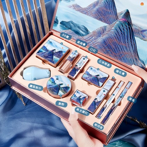 Chinese Style Forbidden City Carved Combination Set Cosmetics