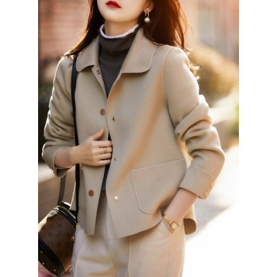 Double-faced cashmere ladies jacket